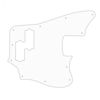 USA CUSTOM PICKGUARD for SQUIER® by FENDER® VINTAGE MODIFIED JAGUAR BASS® 3 Ply PG WHITE WBW
