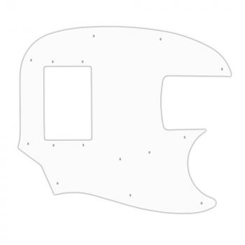 USA CUSTOM PICKGUARD für FENDER® PAWN SHOP MUSTANG BASS® - 3 Ply PG WHITE WBW