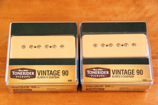 TONERIDER VINTAGE 90 SOAPBAR V90 SET CREAM with NECK & BRIDGE V90SET-CR