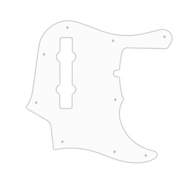 USA CUSTOM PICKGUARD für FENDER® AMERICAN DELUXE 1995 - PRESENT 22 FRET 5 STRING JAZZ BASS® - 3 Ply WHITE WBW