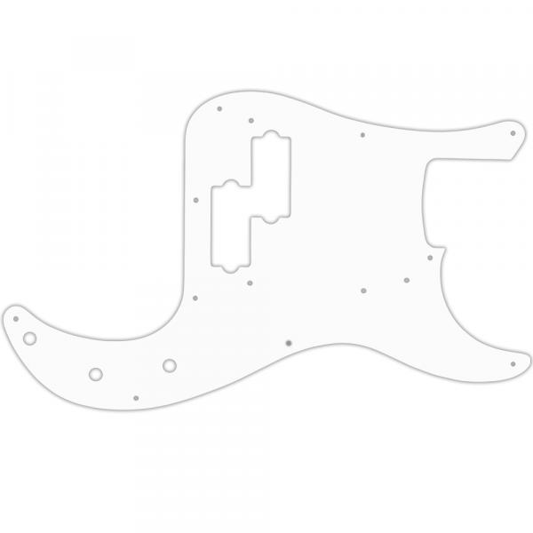 USA CUSTOM PICKGUARD for FENDER® 50th ANNIVERSARY PRECISION BASS® - 3 Ply WHITE WBW