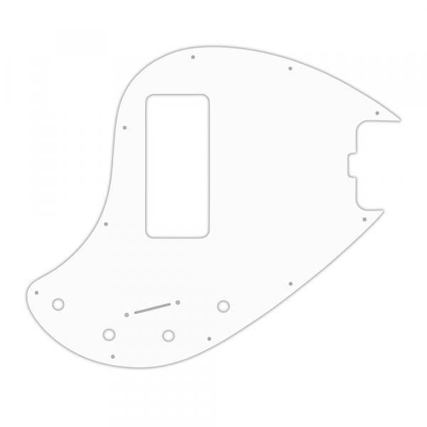 USA CUSTOM PICKGUARD for MUSICMAN® 5 STRING 5-H STINGRAY® OLD STYLE BASS - 3 Ply PG WHITE WBW
